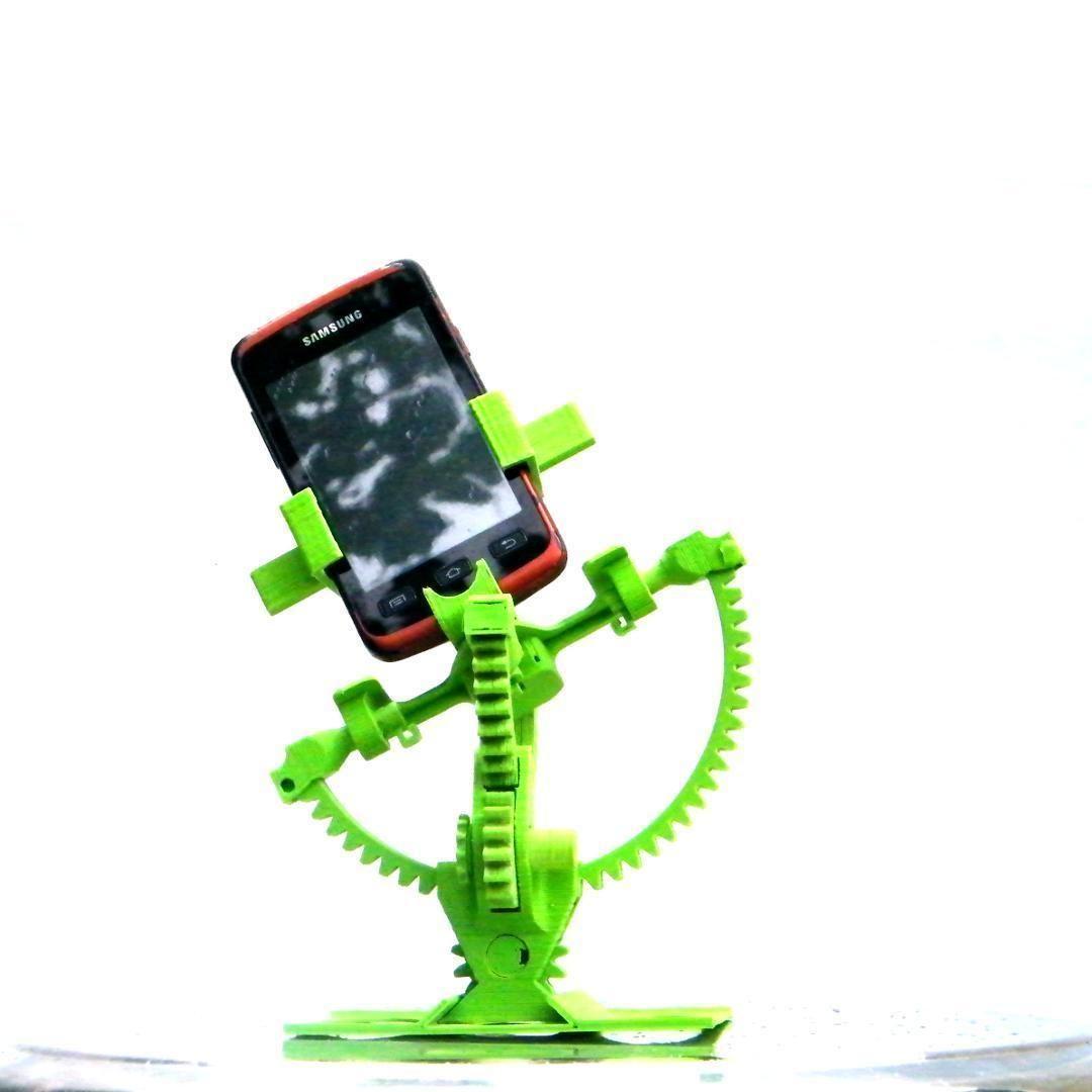 Armillary phone holder