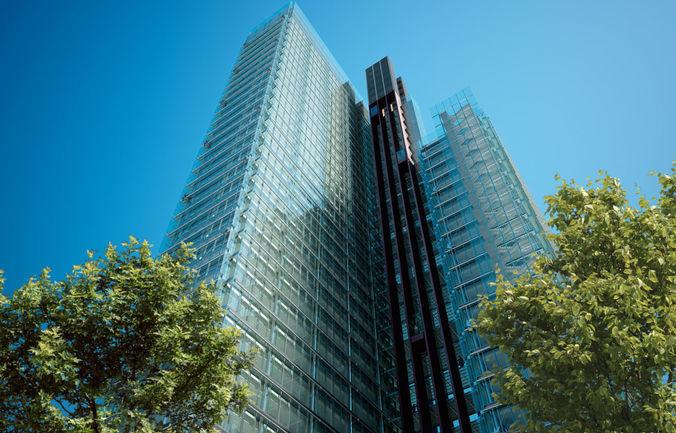 skyscraper 3d model obj mtl 3ds fbx c4d 1