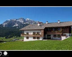 Alpine house - chalet 3D