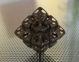 3d printable model bro woven octahedron 2