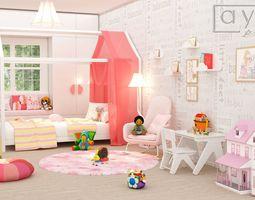 baby room 3D bed