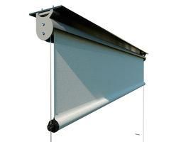 External roller blind - sun screen - curtain 3D model