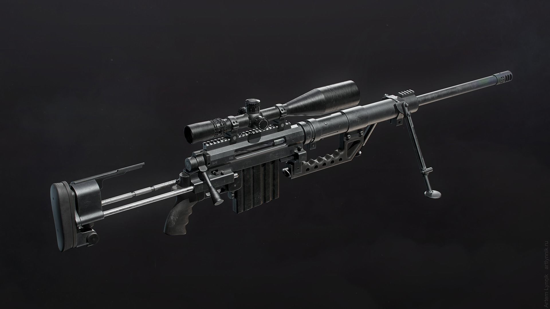 CheyTac M200 Intervention Sniper Rifle | 3D model