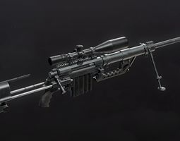 CheyTac M200 Intervention Sniper Rifle 3D model