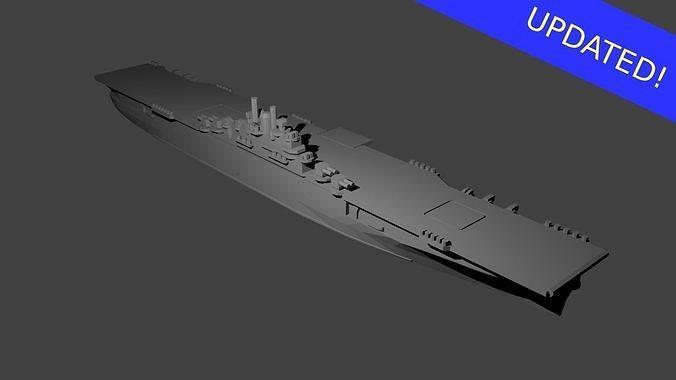 US Essex Class Aircraft Carrier