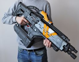 3D print model Destiny Light Beware Fusion rifle prop with