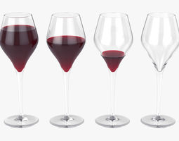 Glass of wine 3D model