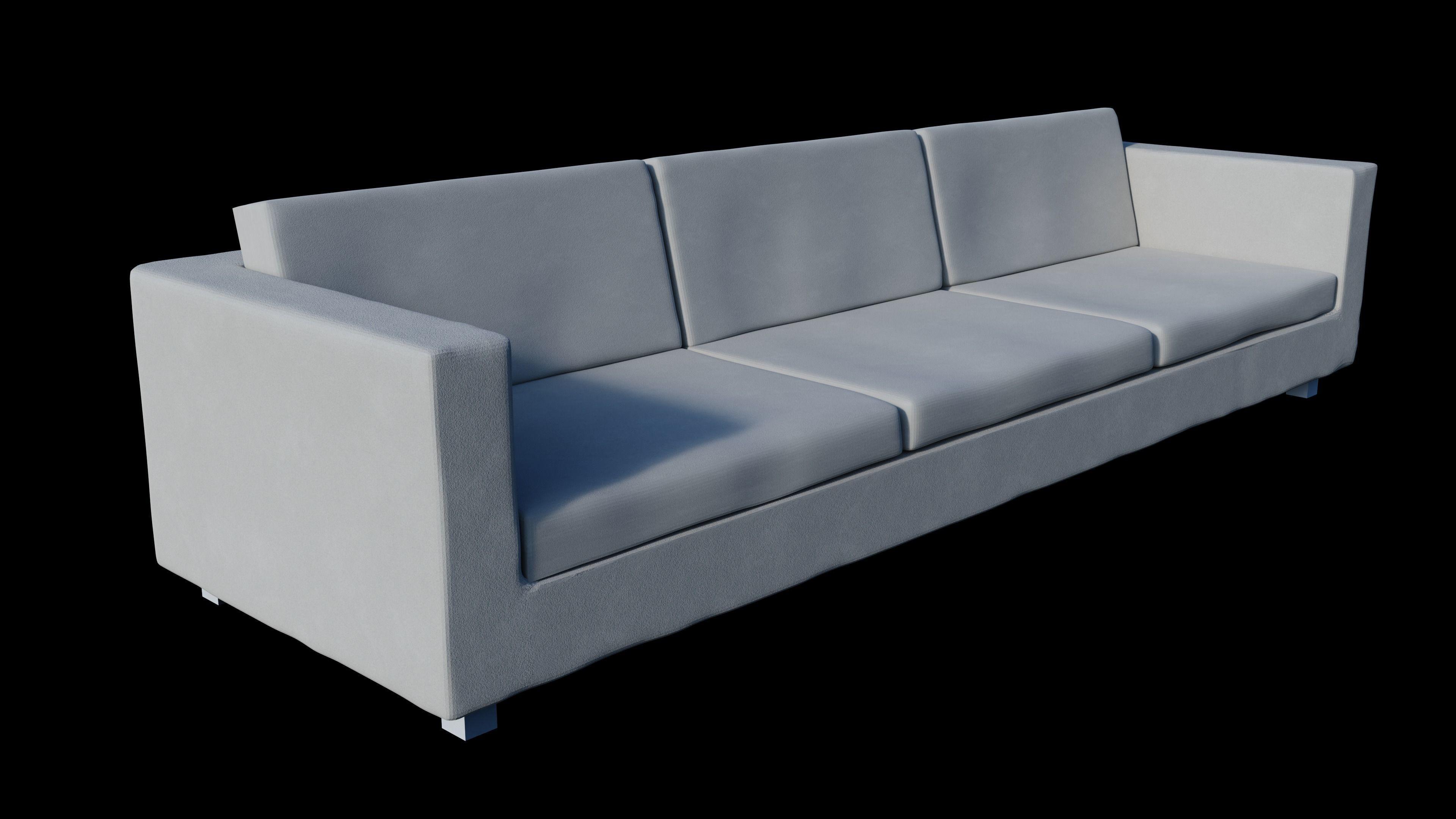 Modern Minimalist Couch Model Obj Mtl 1