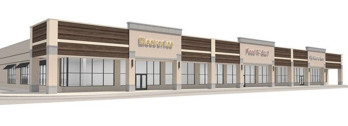 retail-036 retail mall building 3d model max obj mtl 3ds fbx dwg 1