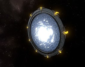 Stargate 3D model game-ready