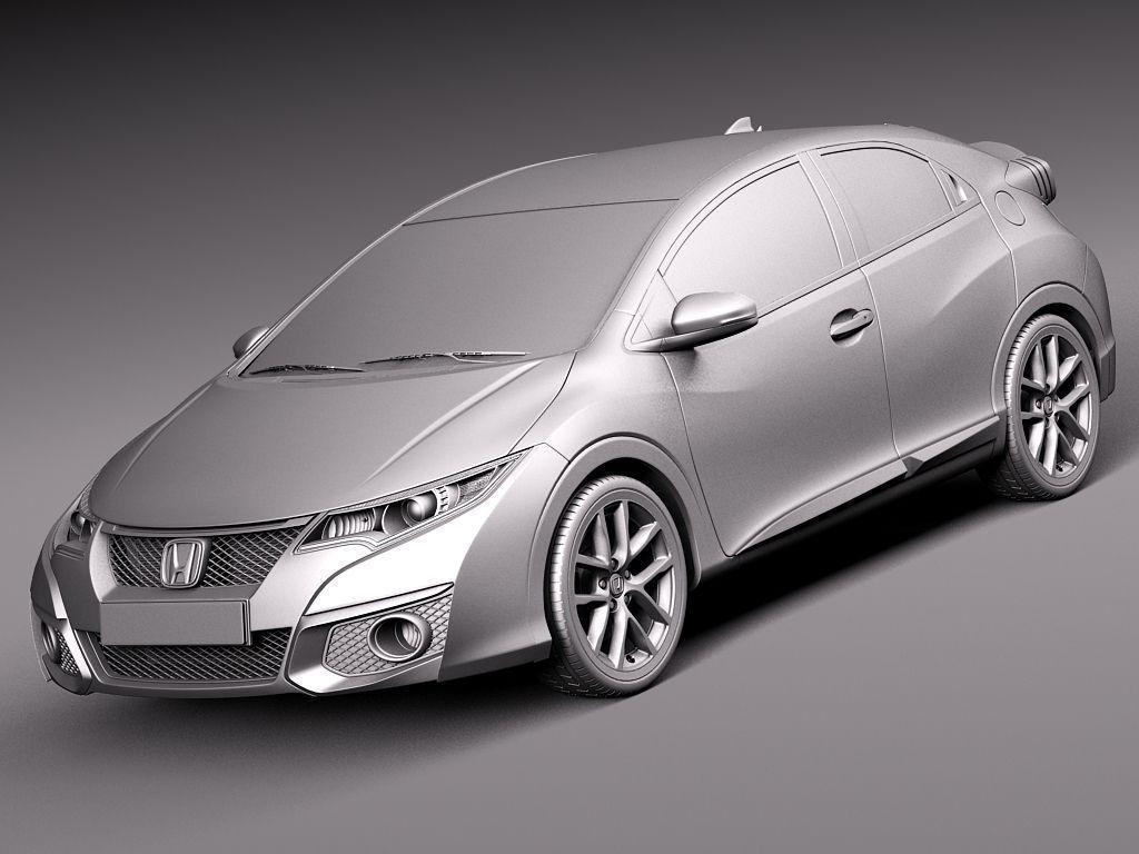 Honda civic sport 2015 3d model max obj 3ds fbx c4d lwo lw for 2015 honda civic models