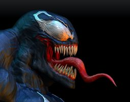 3D printable model Venom Statue 6 and 12 inches