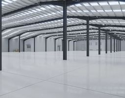 3D asset Industrial Warehouse Interior 10