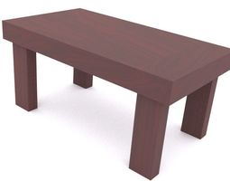 3D print model glossy wooden table