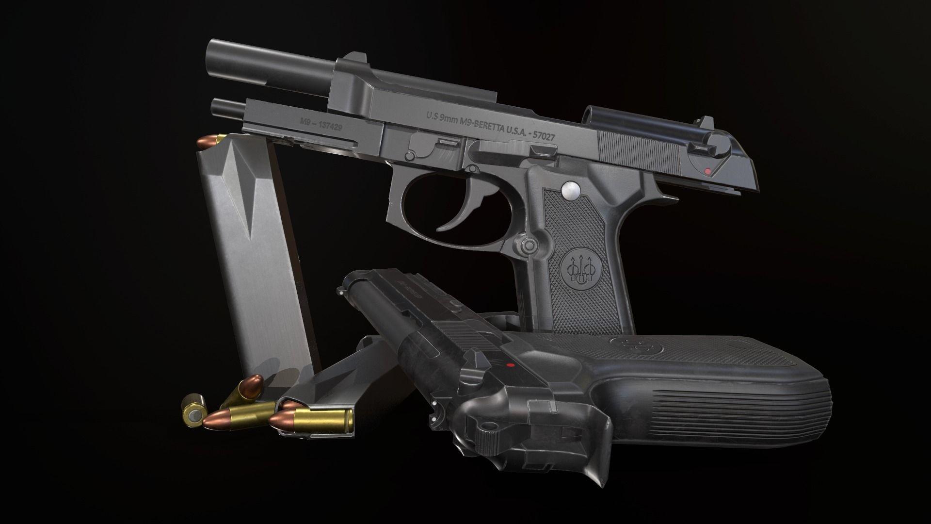 Beretta M9A1   3D model