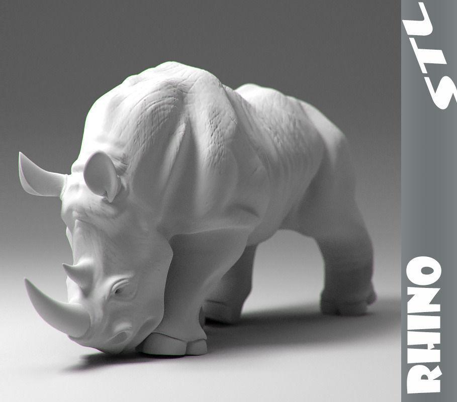 Rhino Stl 3d Model 3d Printable Obj Stl