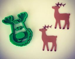 Rudolph the Reindeer Cookie Cutter 3D printable model