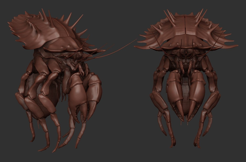 Crab Monster Highpoly