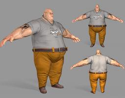3D asset game-ready Gangster Man