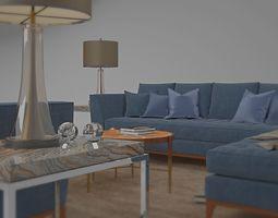 tenarchstudio barbican set living room render ready 3D 1