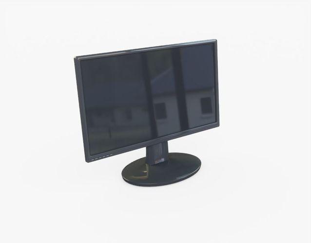 computer monitor 3d model obj mtl 3ds fbx stl 1