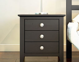3D model Dark Nightstand