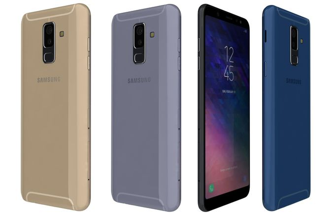 Samsung Galaxy A6 Plus All Colors 3d Model Cgtrader