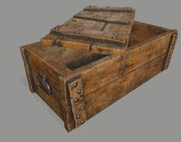 VR / AR ready chest  3d asset