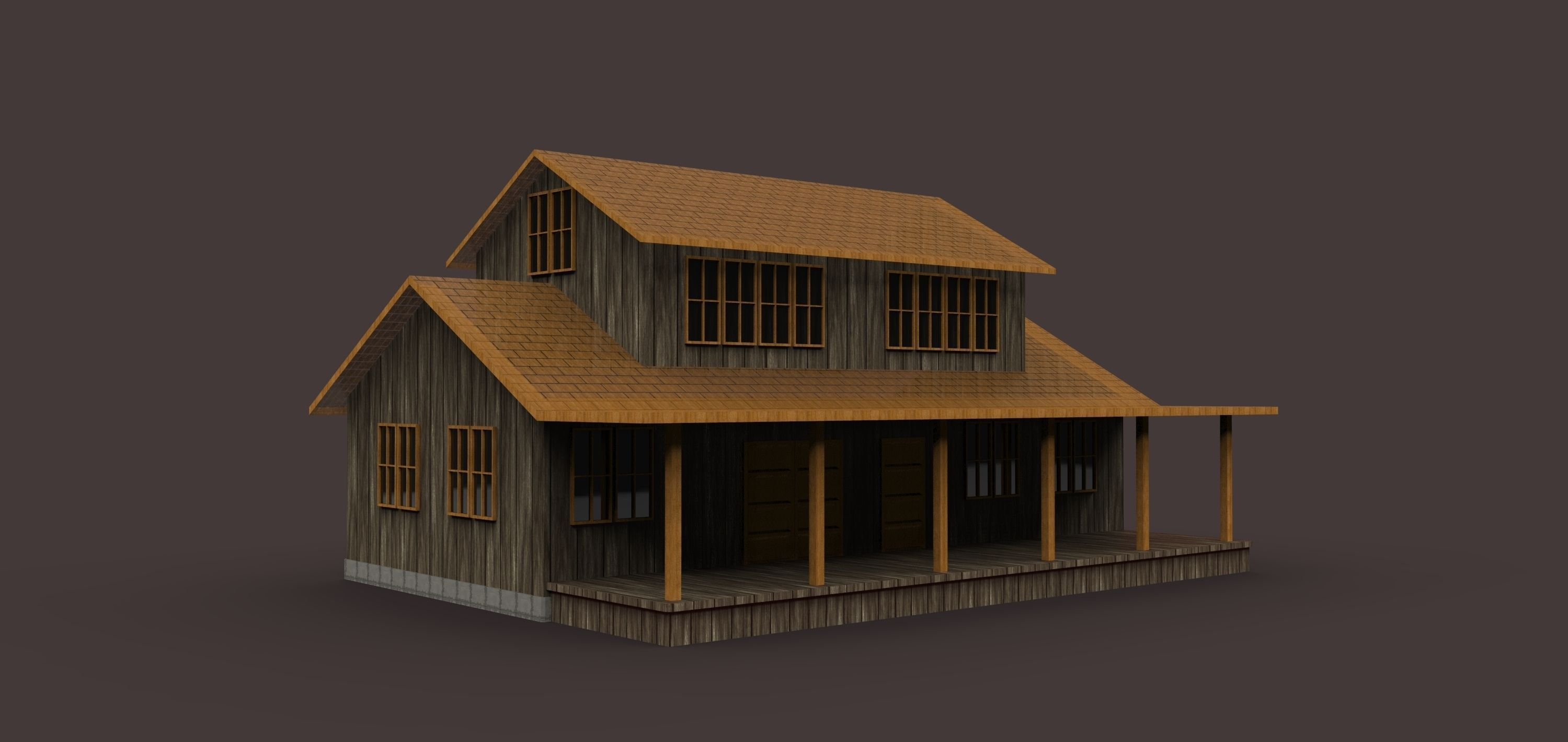 Old style house 3d model max 3ds for Mobel kolonial style