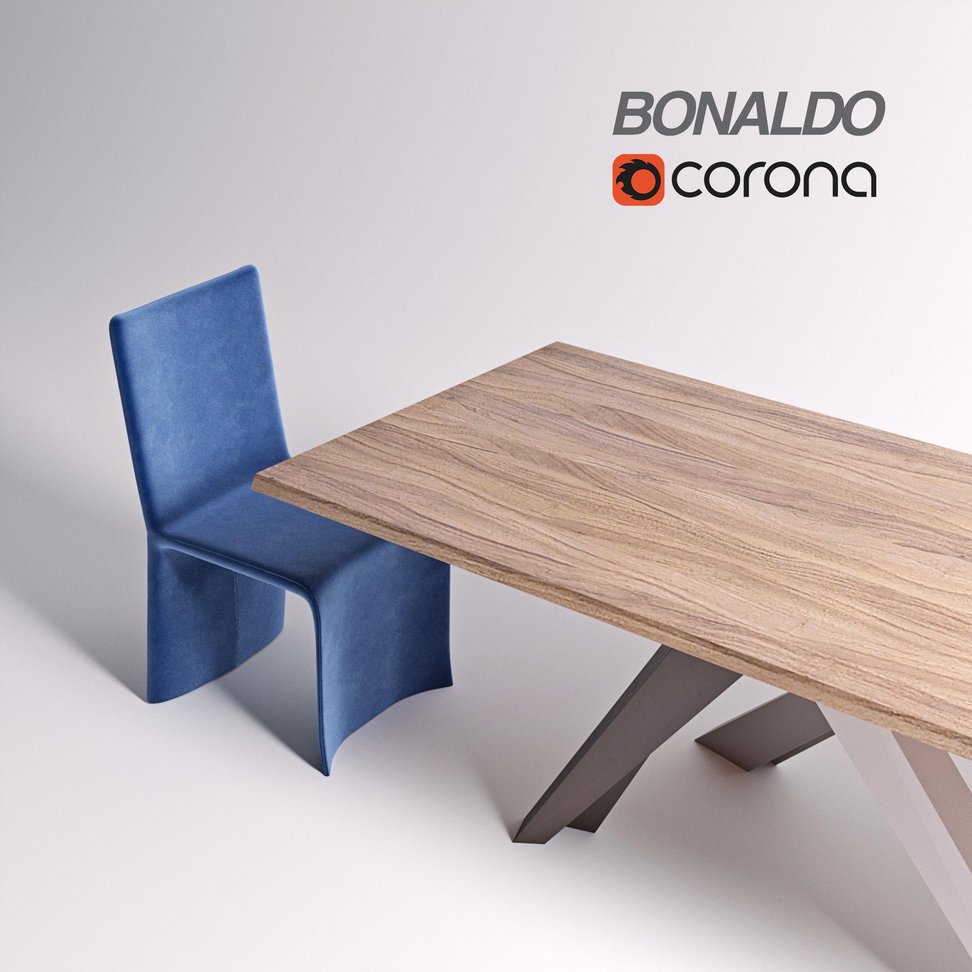 Bonaldo Big Table Bonaldo Ketch Dining Chair | 3D model