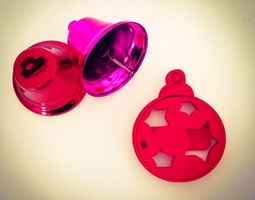3d printable model christmas ball ornament  cookie cutter