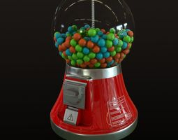 Gumball Machine 3D asset low-poly