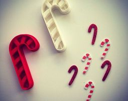Candy Cane Cookie Cutter 3D print model
