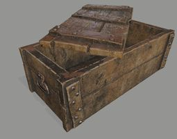 old chest 3D asset game-ready