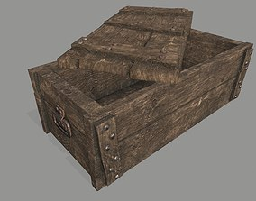 old chest 3D asset game-ready game
