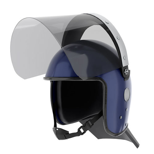 police riot helmet with glass visor 3d model max obj mtl fbx blend mat 1