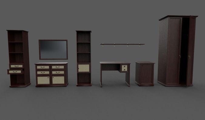 furniture collection 3d model fbx 1