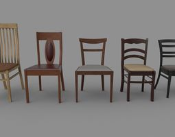 Chairs set 3D model