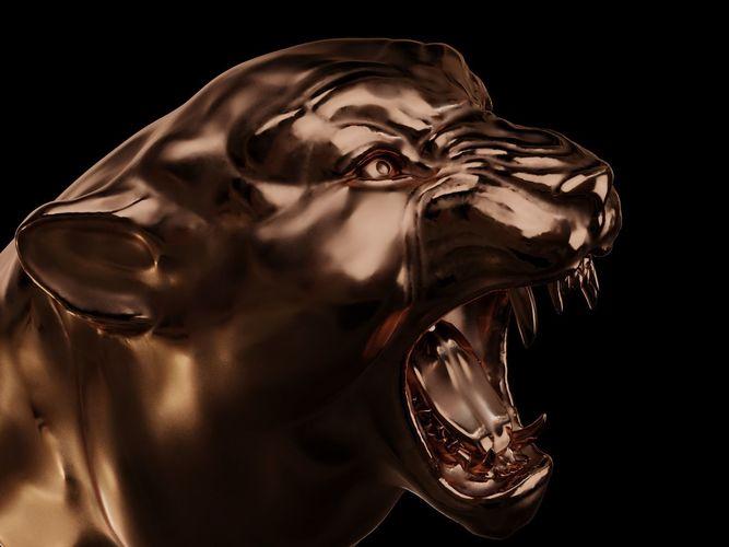 head of panther  3d model obj mtl stl blend 1