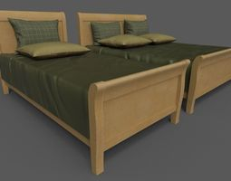 3D model Double and single bed