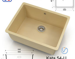 3D asset Kitchen sink - Omoikiri Kata 54-U - 8 colors