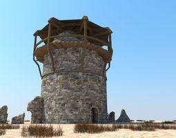 realtime Tower defense building 3D model