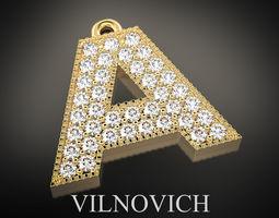 printable pendant with diamonds 3D printable model