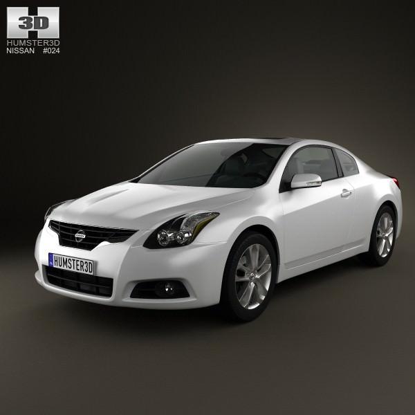nissan altima coupe 2012 3d model max obj 3ds fbx c4d lwo. Black Bedroom Furniture Sets. Home Design Ideas
