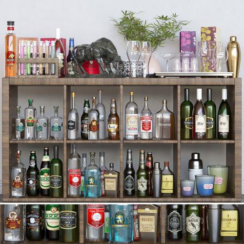 alcohol set 3d model max obj mtl fbx 1