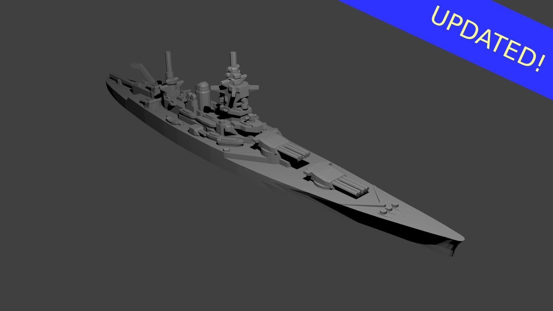 French Dunkerque Class Battleship