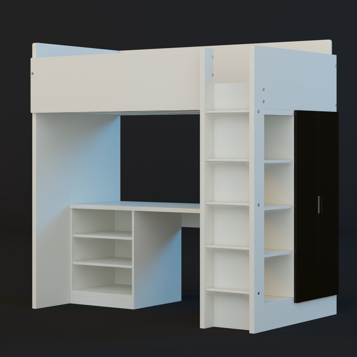 Ikea Stuva Loft Bed 3d Model Cgtrader