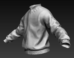 3D model Sports Jacket Zbrush