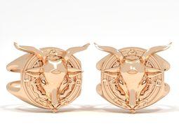 3D print model Ring goat pentagram