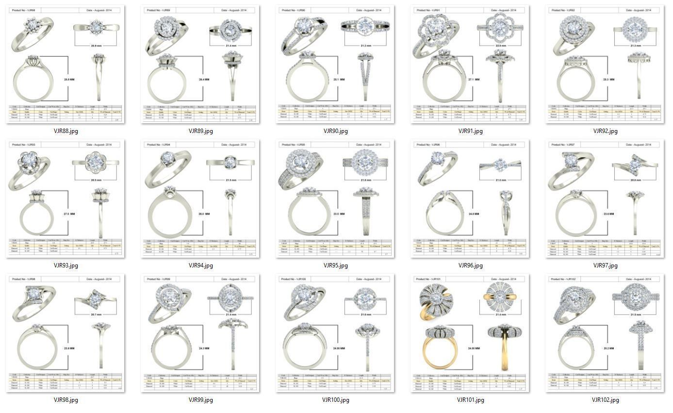Collection- Bulk Rings-0007-3dm with stones-15 Files